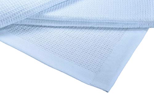 Buy Cheap Crover Collection All Season Thermal Waffle Cotton Twin Blanket 66x90 Cashmere Blue with...
