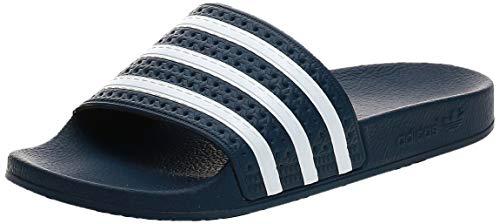 adidas Originals Adilette, Chanclas para Hombre, Azul (Adiblu/White/Adiblu), 44 1/2 EU