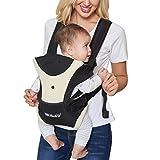 Neotechケアベビーキャリア - 前後の持ち運び - 調整可能、通気性&軽量 - 幼児用、子供用、幼児用 - ベージュと黒