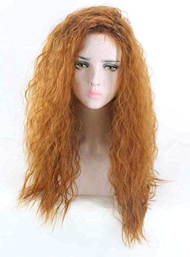 Ayhvia Cosplay Pruik Krullende Blonde Pruik Damespruiken Feestpruiken Met Kapje Voor Pruik Lang Krullend Haar Pruik
