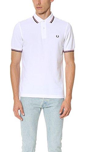 Fred Perry M3600, Polo Uomo, Bianco (White), Medium