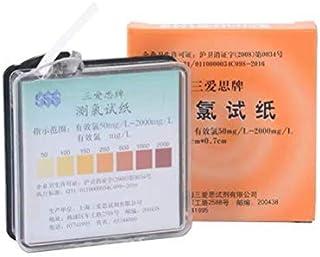 ARABOYO 残留塩素濃度試験紙 50-2000mg / L pH試験紙 ロールタイプ PH9.5以下 色チャート付き(4メートル/ロール)