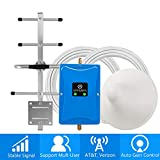Cell Phone Signal Booster for Home and Office - Boosts Verizon AT&T T-Mobile 4G LTE Data and Volte - Dual 700MHz Band 12/13/17 Cellular Repeater with High Gain Ceiling/Yagi Antennas