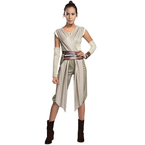 Star Wars Damenkostüm Rey Kostüm Damen L 44/46 Starwars Verkleidung Frauen Jedi Faschingskostüm Erwachsene Larp Kleidung Fantasy Karnevalskostüm