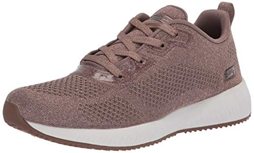 Skechers Damen Bobs Squad - Glitz Maker Sneaker, Braun (Taupe Sparkle Engineered Knit TPE), 37 EU