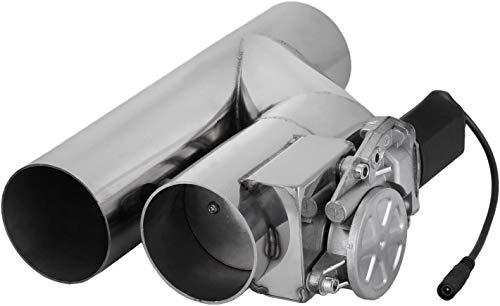 Mophorn Válvula de Escape Eléctrica 76mm Tubo de escape eléctrico Tubo de...