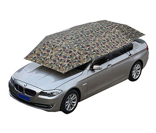 Universeller automatischer Regenschirm für Autos, Sonnenschutzabdeckung für Autos, zusammenklappbare und mobile Garagen, UV-beständig, wasserdicht, winddicht, schnee- und sturmfest, 400 x 210 cm