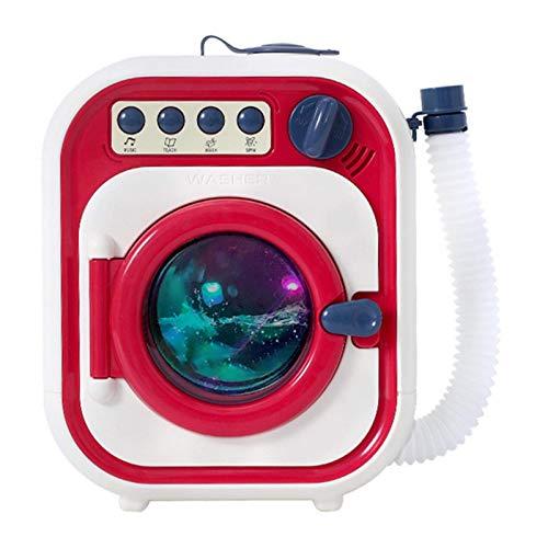 Juguete de lavadora electrónica, cuarto de lavandería juego de niños simulan jugar lavadora juguete con luces realistas y sonido liuchang20