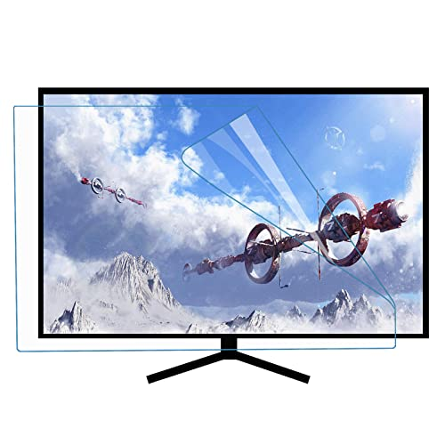 FEEZC Pellicola Antiriflesso Opaca per TV HD da 50-55 Pollici, Anti Luce Blu, Nessuna Bolla, Lesione AntiGraffio, per LCD, LED, OLED e QLED 4k HDTV,Matte-50inch(1101x620mm)