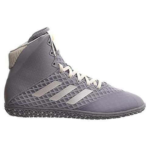adidas Mat Wizard 4 - Zapatillas de lucha para hombre, color gris/blanco/dorado, 5.5