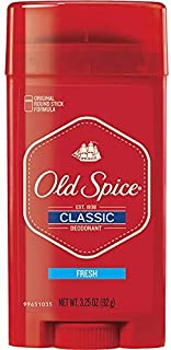 Old Spice Classic Deodorant Stick, Fresh 3.25 oz (Pack of 2)