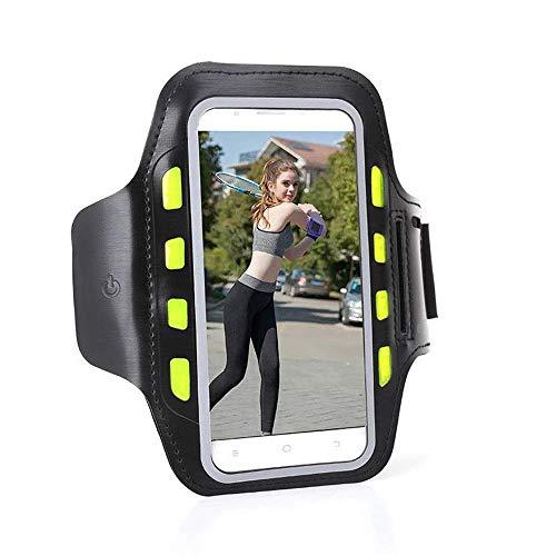 Sport Courir Gym Sport Armband Jogging Brassard Arm Band Sacs Pochette for 4,0-6,5 Pouces Smart Phone for la Course, Jogging, Sport, Sport (Color : Black, Size : One Size)