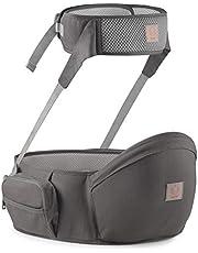 GAGAKU Baby midja pall säte hållare med säkerhetsbälte skydd höft säte bärare – grå