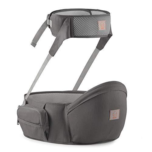GAGAKU Portabebés de Taburete de Cintura con Protección del Cinturón de Seguridad, Portabebés de Asiento de Cadera