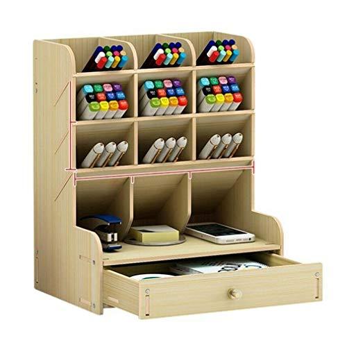 LONGJUAN-C Escritorio de Madera Organizador de múltiples Funciones de DIY Titular Pluma Caja del Estante de Escritorio estacionario casa for Guardar Cosas de papelería Oficina (Color : B11 2)