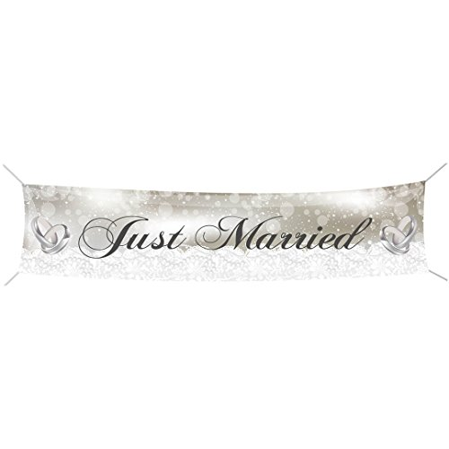Banner Just married , ca. 60x300 cm