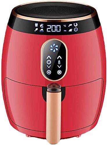 Elektrische Fryer 2.6 Liter heet Fryer Oven Oil-Free Rice Cooker voorverwarmen en Herinnering 6 Koken ingesteld LED Digital Touch Screen Non-Stick Basket 12 00W HAOSHUAI