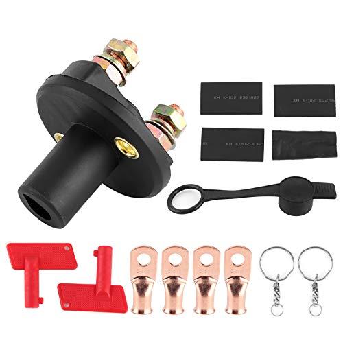 Wosune Interruptor de Corte de batería, fácil de Instalar, Protege la Fuente de alimentación y Evita Fugas Interruptor de batería, 12v / 24v 200a para Camiones