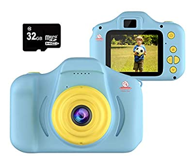 EMAAS Kids Camera Children - Digital Camera for Kids - Selfie Camera for Girls and Boys - Age 3 4 5 6 7 8 9 10 with 32GB SD Card Pink - Toddler Video Recorder and Photography– Includes 32GB SD Card by EMAAS