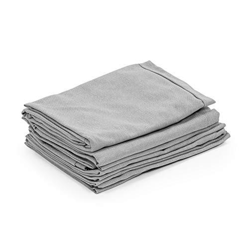 blumfeldt Theia Polsterbezüge - Material: 100% Polyester gewebt 220 g/m², wasserabweisend, geeignet für Handwäsche, 8-teiliges Zubehör-Set, hellgrau meliert