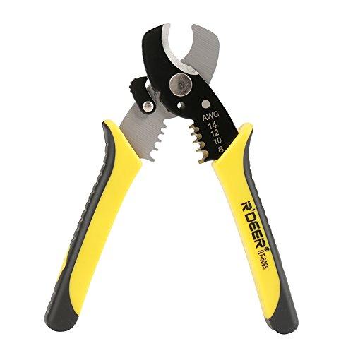 """2 en 1 alicate pelacables RT-6065 8""""profesional de corte por cable tijera pelacables cortador multi herramienta de mano bicolor"""