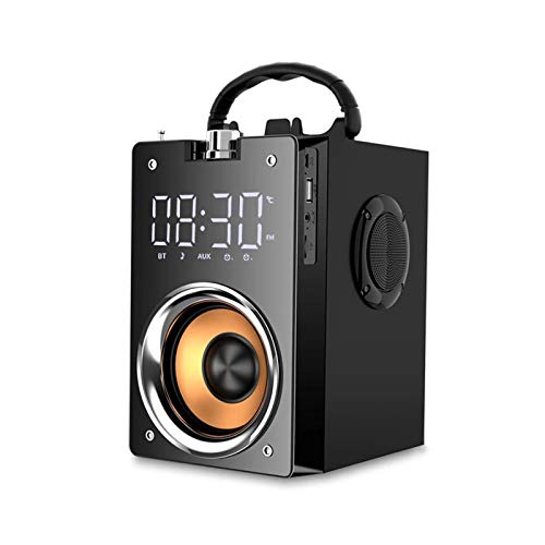 Lhlbgdz Altavoz Bluetooth súper bajo Columna portátil Subwoofer de Alta Potencia Centro de música Soporte AUX TF Radio FM Columna Bluetooth Boom Box