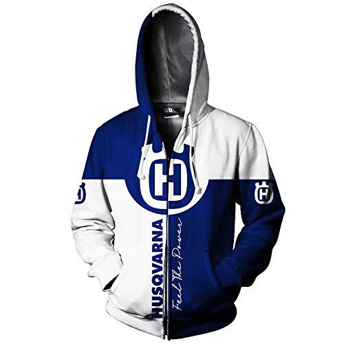 xiaoxian Männer Hoodies Jacke Zum Husqvarna 3D Drucken Pullover/Zip Sweatshirts Husqvarna-Fan Unisex Lose Jumper Tops Lose / A1 / XXL