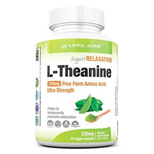 VITA-AGE L-Theanine Lテアニン 超強250mg配合 90日分(1日1粒/90粒入)
