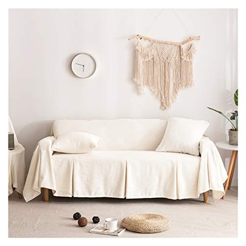 MISSMAO_FASHION2019 Tagesdecke/Sofaüberwurf Sofa Überwurf Bettüberwurf Couchbezug Leinen Mehrzweck Eine Sofabezug Werfen Weiß Links Chaise