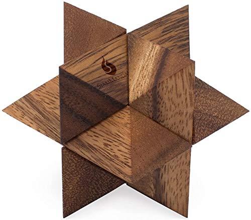【空間認識能力を鍛える】 サイアムマンダレー 木製パズル 木製おもちゃ 立体パズル 知育玩具 孔明パズル おもちゃ 男の子 女の子 大人 ギフト 誕生日 シューティングスター 父の日 母の日