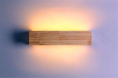 SADASD Nordic Led Holz Spiegel Scheinwerfer Moisture-Proof Bad modernes, minimalistisches Spiegelleuchte Schminktisch Spiegel Licht, kleine 6-W-35 * 9.
