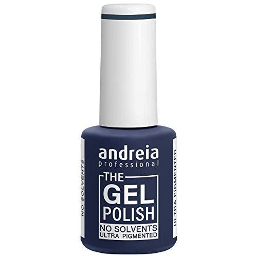Andreia Professional - Esmalte de gel sin disolventes ni olores, colores oscuros, tonos de gris, azul y verde