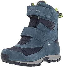 Columbia Unisex-Kid's Youth Parkers Peak Boot Snow, Collegiate Navy/Fission, 5 Regular US Big Kid
