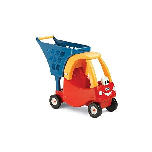 Little Tikes Chariot Confortable - Épicerie imaginaire pour enfants - Coffret de jeu pour tout-petits - Rouge / jaune