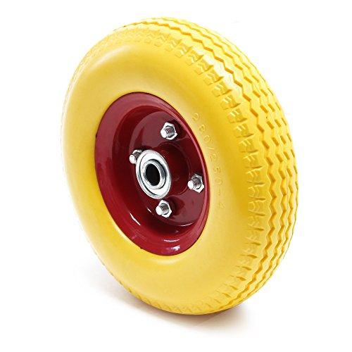 PU-Rad 2.80/2.50-4 aus Vollgummi, pannensicheres Rad für Sackkarren mit Stahlfelge