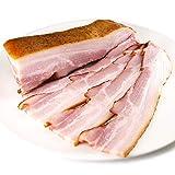 グルメソムリエ 乾塩熟成バラベーコン ブロック 肉質のしっかりしたバラ肉使用 Smoked Bacon Block (300g×1パック)