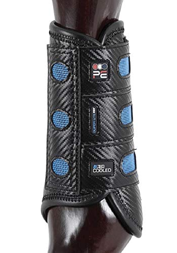 Premier Equine Air Cooled Super Lite Carbon Tech Eventing Gelände-Gamaschen Paar vorne (L, Black)