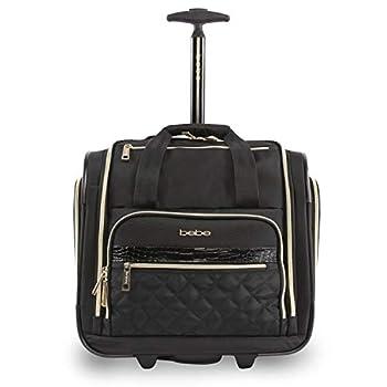 BEBE Women s Leena-Wheeled Under The Seat Carry On Bag Black One Size