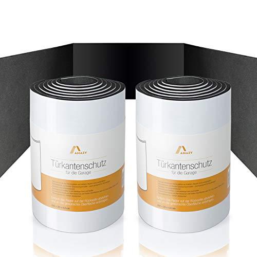 Amazy Protector de Puertas (Paquete de 2) - Cinta adhesiva protectora para puertas de coche y paredes de garaje. (200 x 20 x 0,6 centímetros)