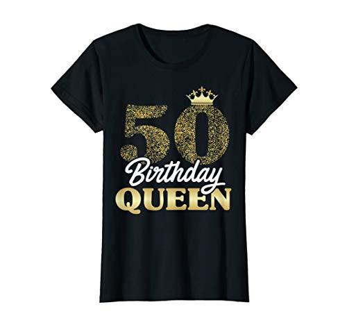 Damen 50. Geburtstag Geschenk Jahrgang 1970 Birthday Queen Krone T-Shirt