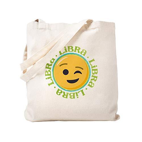 CafePress Emoji Waage Horoskop Tragetasche, canvas, khaki, S