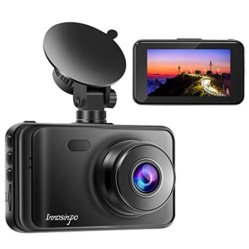 Dash Cam【2020 New Version】 1080P FHD DVR Car Dashboard Camera Recorder 3' LCD Screen 170° Wide Angle, Super Night Vision, G-Sensor, WDR, Parking Monitor, Loop Recording, Motion Detection