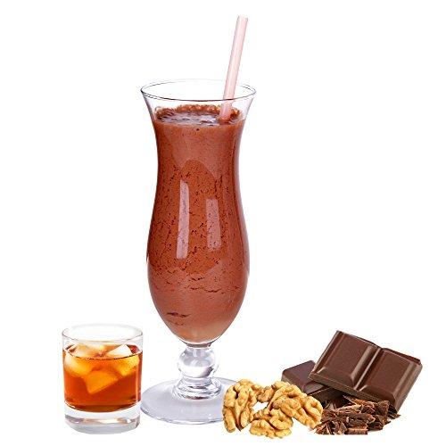 Schoko Rum Nuss Gianduja Geschmack Eiweißpulver Milch Proteinpulver Whey Protein Eiweiß L-Carnitin angereichert Eiweißkonzentrat für Proteinshakes Eiweißshakes Aspartamfrei (1 kg)