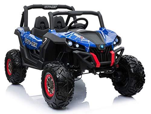 fit4form Kinder Elektroauto Blue Spider UTV 4x4 Allrad Off Road 24V Kinderfahrzeug Kinderauto elektrisch
