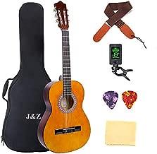 Classical Guitar Acoustic Guitar 3/4 Junior Size 36 inch Kids Guitar for Beginners 6 Nylon Strings Guitar Starter Kits with Waterproof Bag Guitar Clip Tuner Strap Picks Wipe