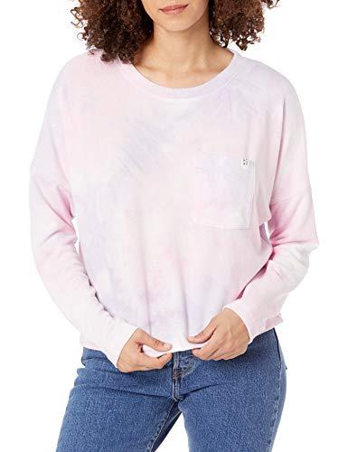 Roxy Women's Sunshine Spirit Cosy Long Sleeve Tie-Dye Top, Orchid Petal NO Flowers Fly T, XL