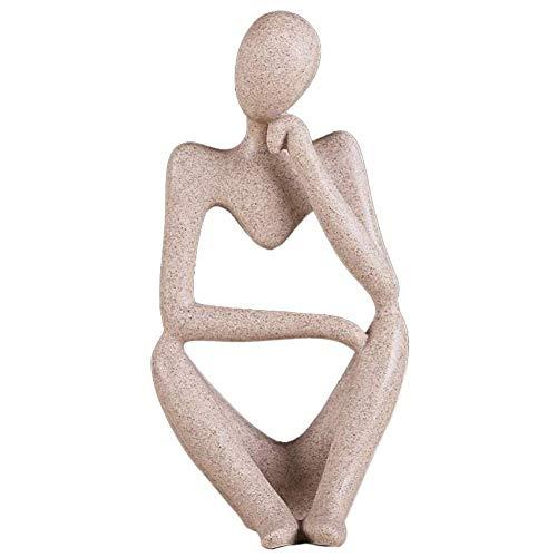 Résine penseur Statues décoration Sculpture abstraite à collectionner ornement Figurines Bureau à Domicile étagère de Bureau décor A