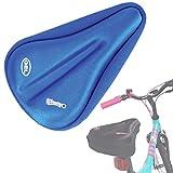 WINNINGO niño Bicicleta Gel sillín para Bicicleta de Asiento Funda de cojín más cómodo pequeño para niños (Azul)