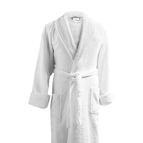 Luxor Linens Couple's Terry Cloth Bathrobe Egyptian Cotton Unisex/One Size Luxurious Soft Plush Elegant San Marco (Single Robe, No Monogram)