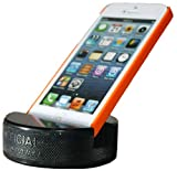 PUCKUPS - The Original Indestructible Hockey Puck Cell Phone Stand - The Best Universal Smartphone Stand. Compatible for All iPhone/Samsung/Google/LG Smartphones. Made from a Real Hockey Puck (1 Pack)